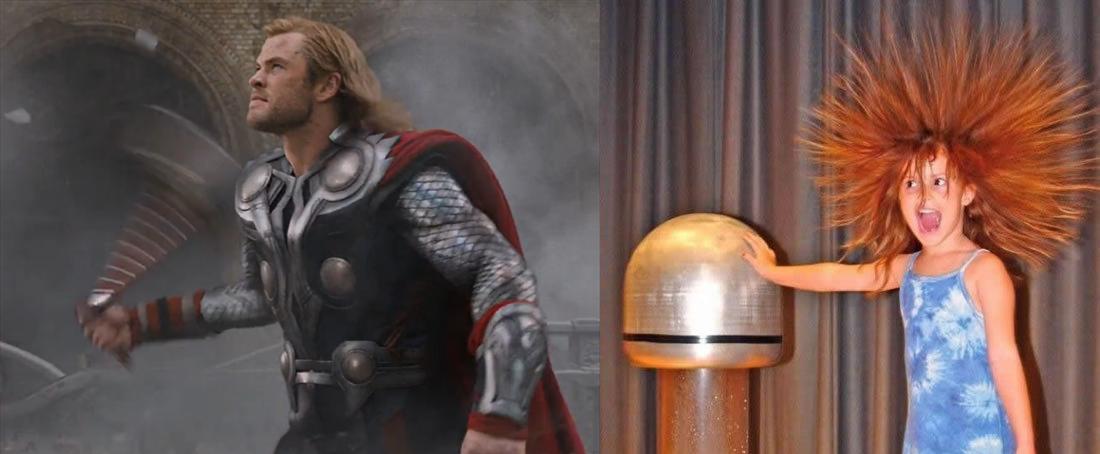 Thor y la electricidad estática