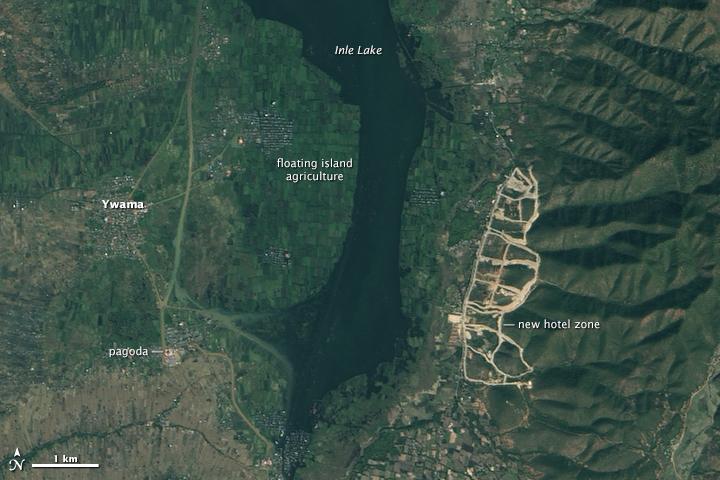 Lago Inle, foto satélite