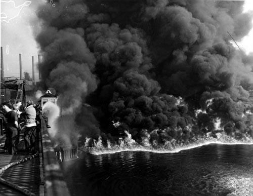 Incendio en el Cuyahoga en 1952